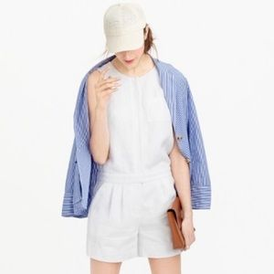 NWT J. Crew White Tailored Linen Romper